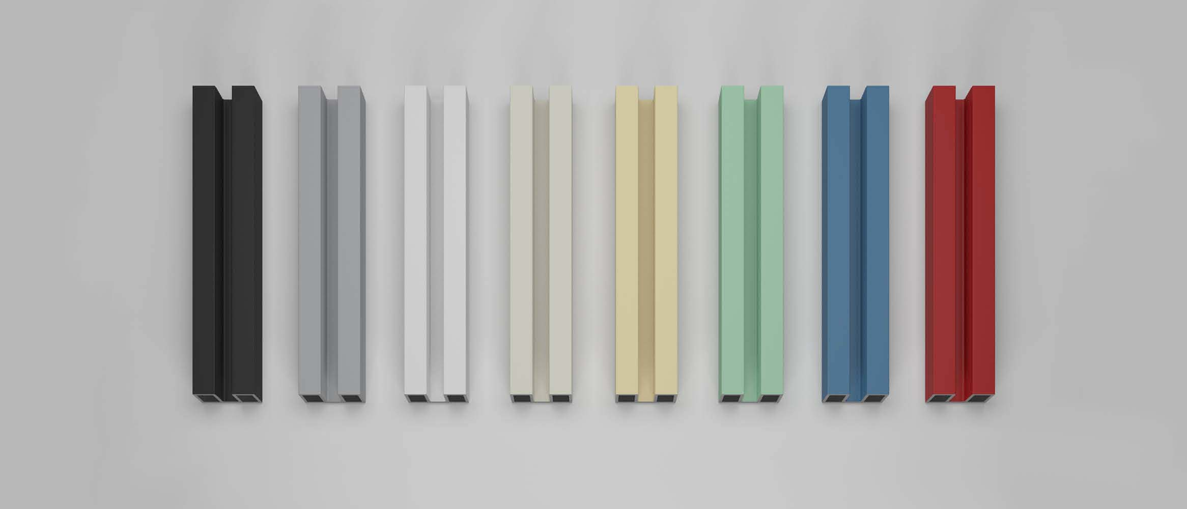 Profiles for shower enclosure in <b>pastel colours</b>