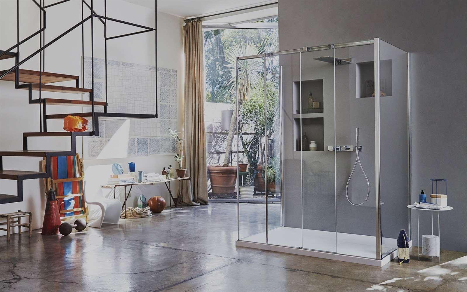Gliss | Cabina doccia scorrevole dotata di pattini flottanti
