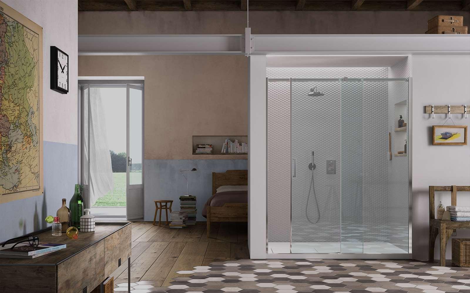Gliss | Cabina de ducha corredera dotada de patines flotantes