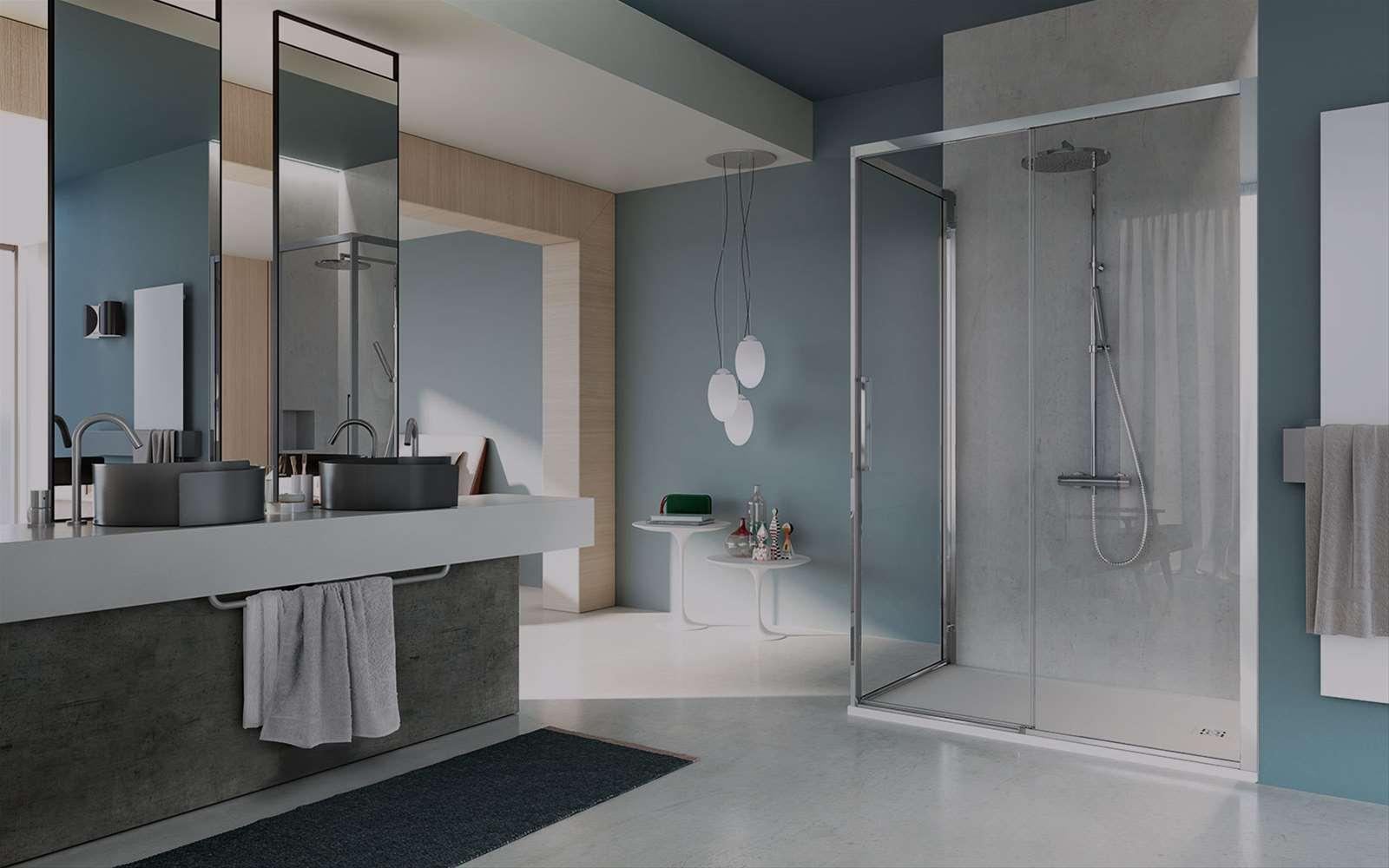Serie 7000 | Cabine de douche coulissante en 6 mm avec profilés epurés