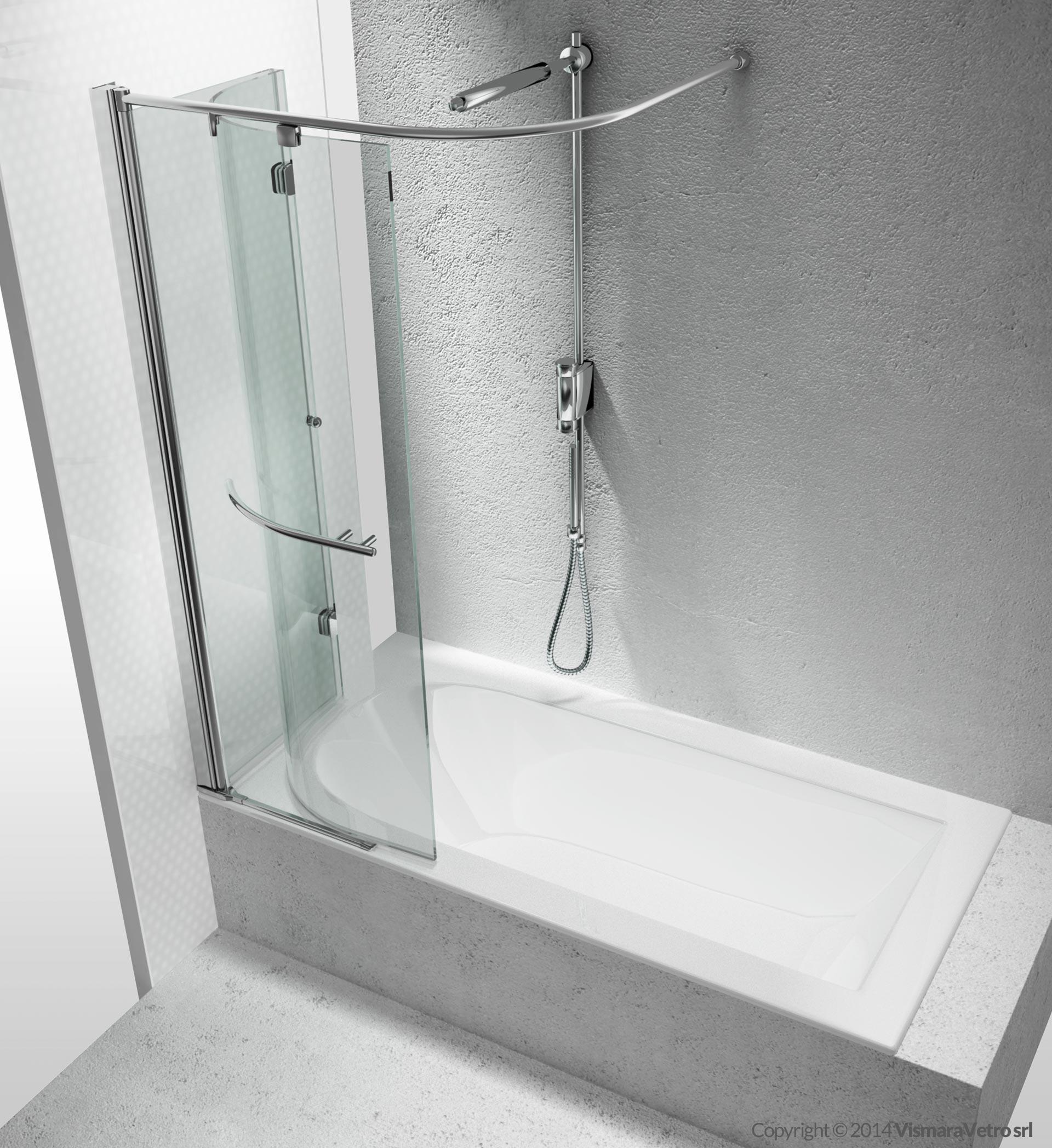 Vasche sr apertura pieghevole - Box doccia per vasche da bagno ...