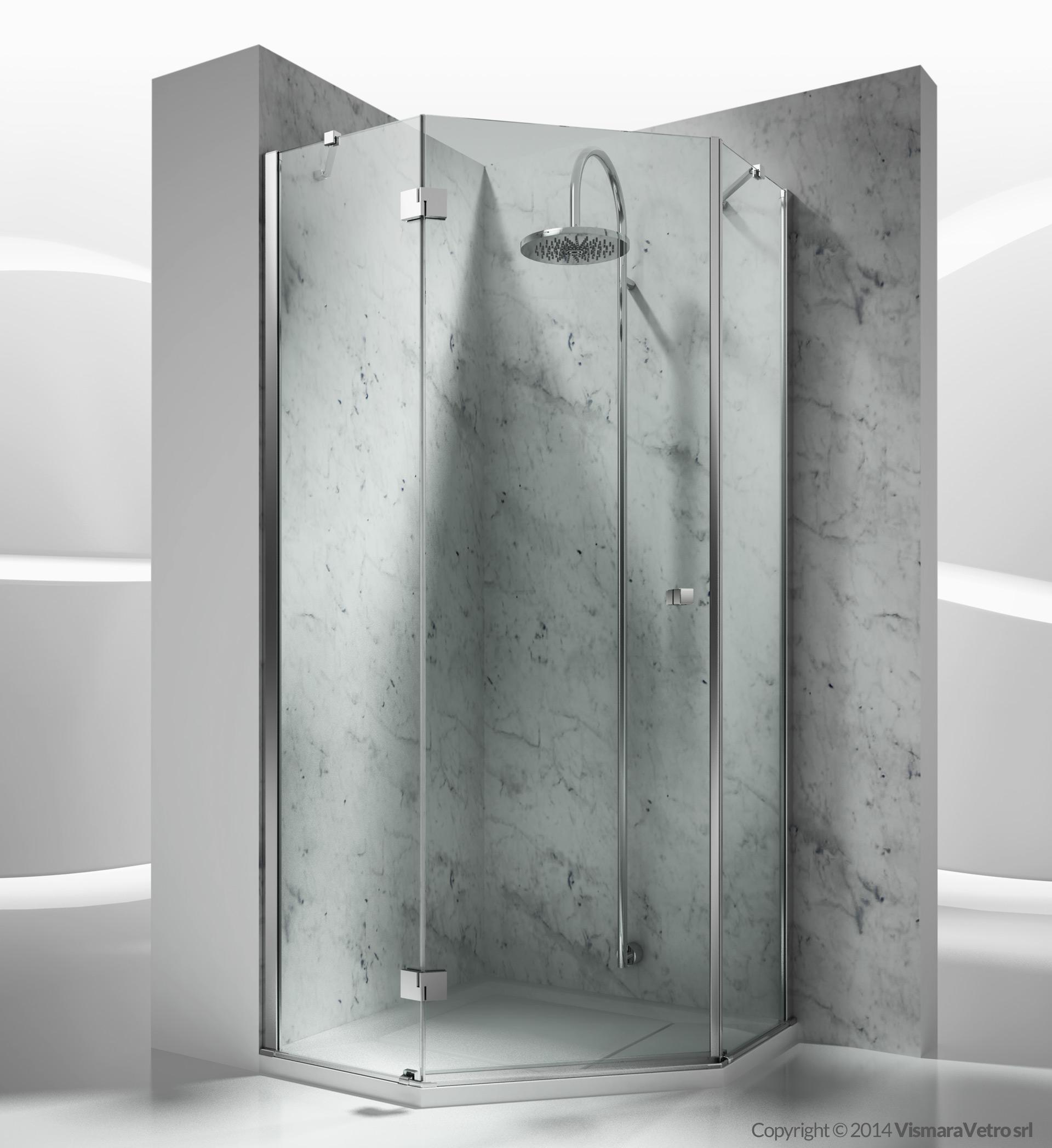 Trs sintesi modelli cabine doccia con apertura battente for Adesivi per box doccia