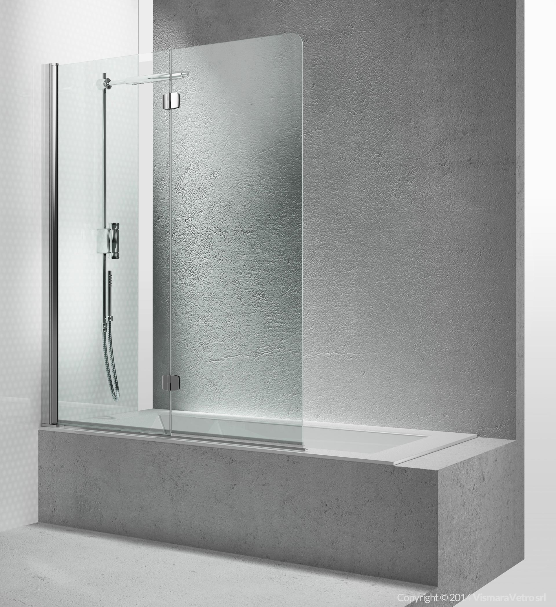 Vasche sv apertura pieghevole - Vasca da bagno in vetro ...
