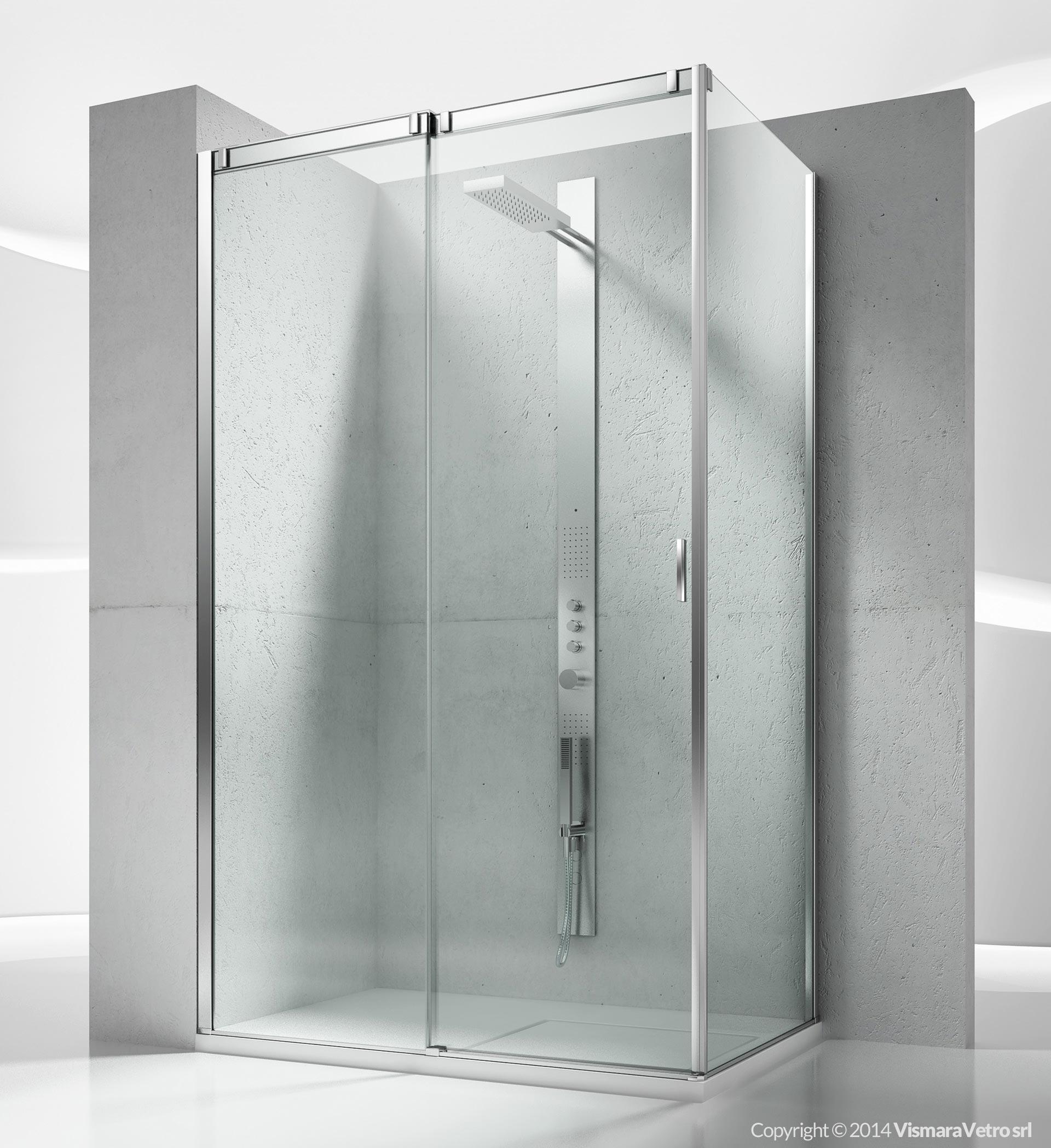 Vq vf slide cabine de douche pour salle de bains avec ouverture coulissante - Mondial box doccia ...