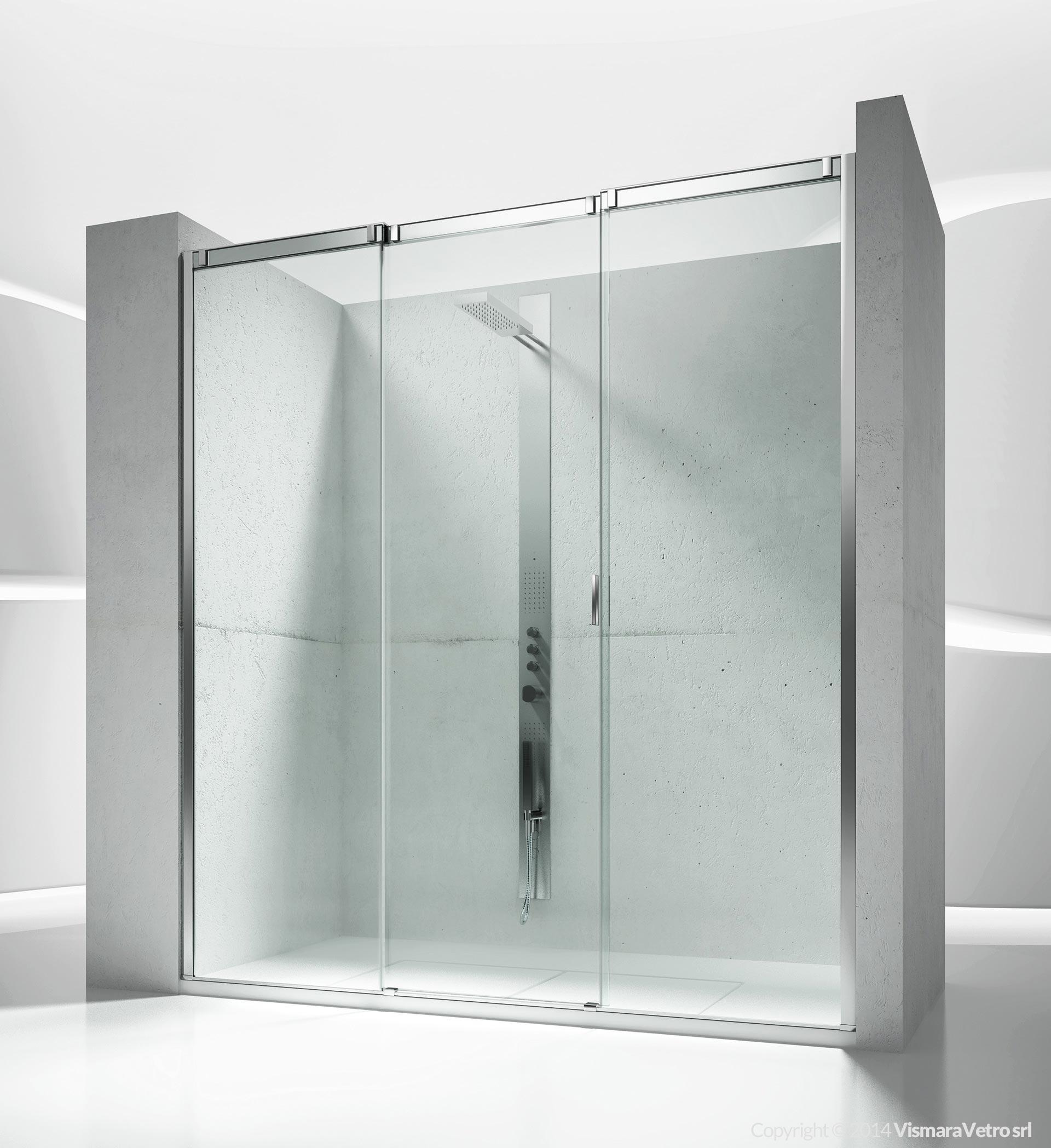 V3 Slide Cabine De Douche Pour Salle De Bains Avec Ouverture Coulissante