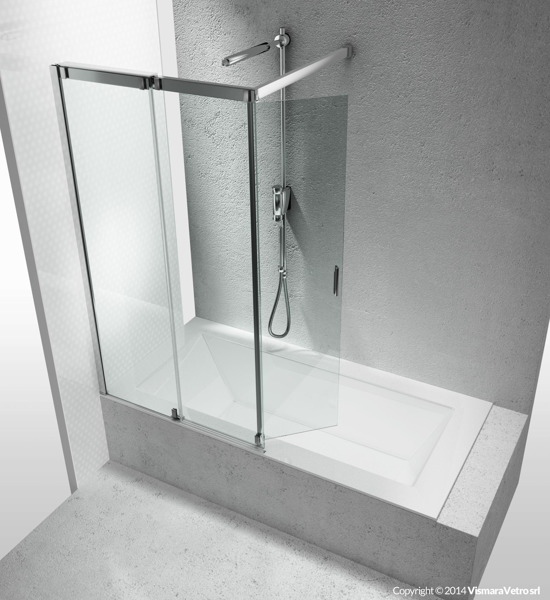Vasche vr apertura scorrevole for Parete vasca pieghevole