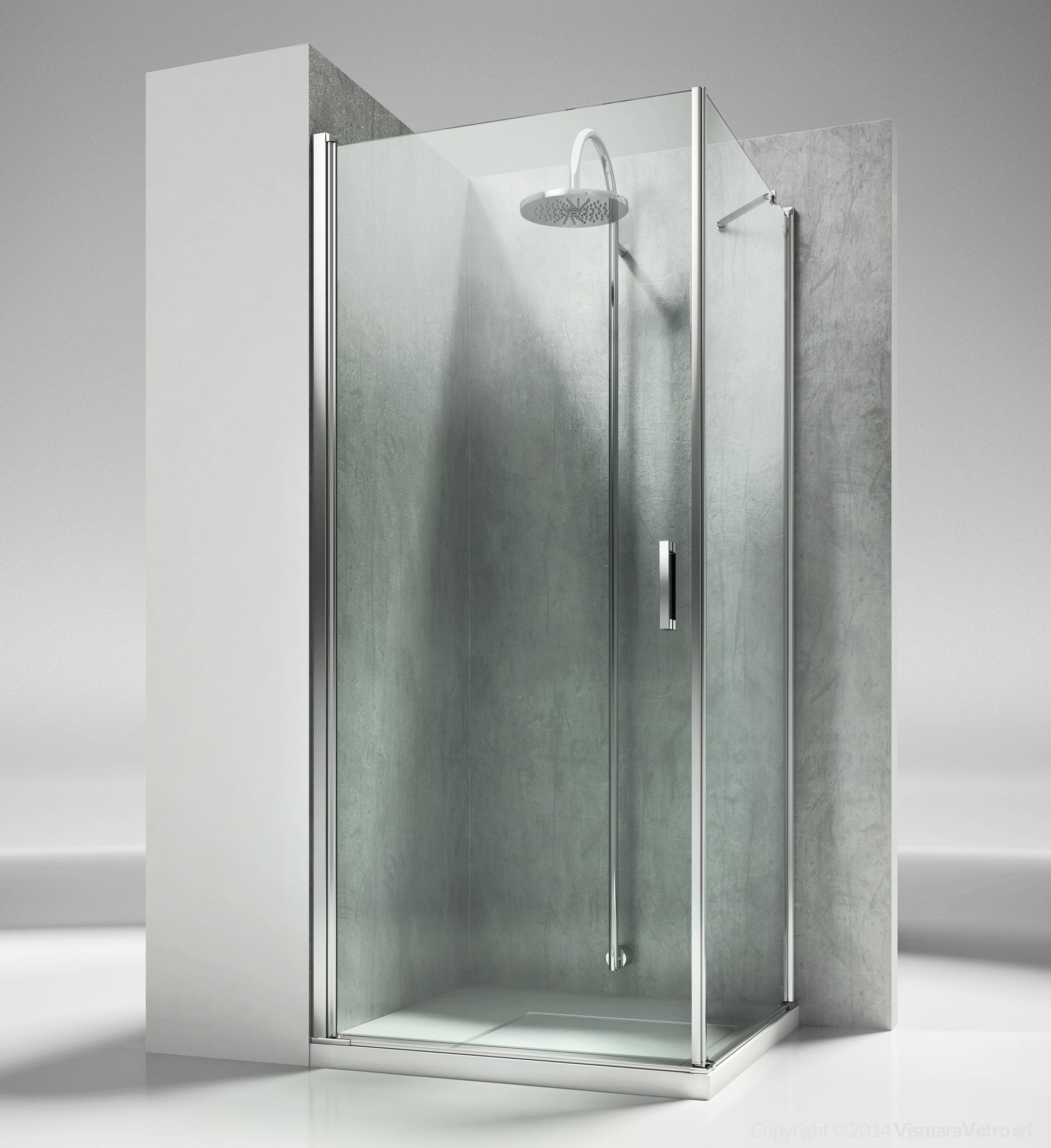 La lf linea modelli cabine doccia con apertura battente - Box doccia senza telaio ...