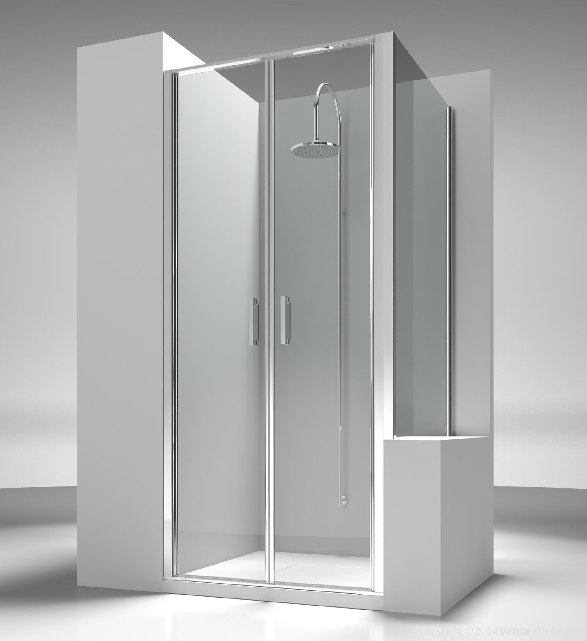 lb+lp : linea modelli cabine doccia con apertura battente