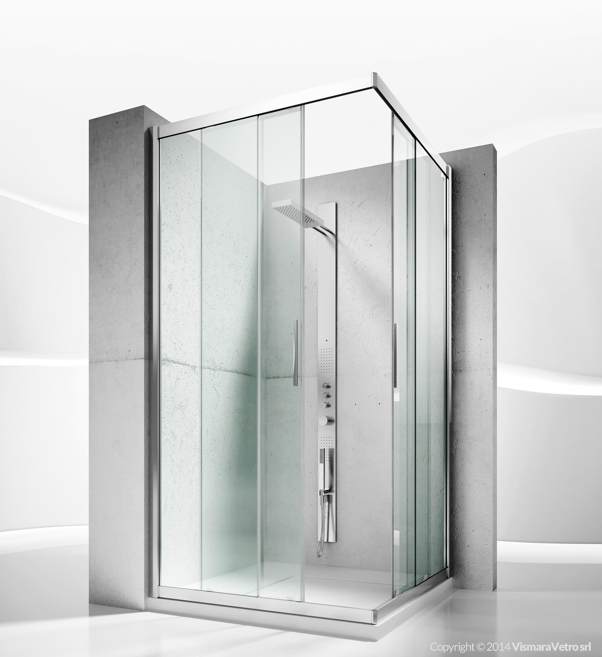 Modello 6200 installazione ad angolo - Costruire box doccia ...