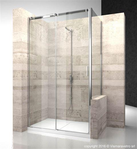 cn cp serie 8000 modelli cabine doccia con apertura scorrevole. Black Bedroom Furniture Sets. Home Design Ideas