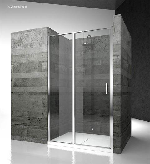 lz linea cabine de douche pour salle de bains avec ouverture pivotante. Black Bedroom Furniture Sets. Home Design Ideas