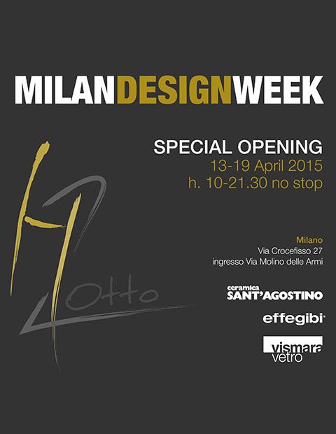 MILAN DESIGN WEEK - SPECIAL OPENING H2OTTO