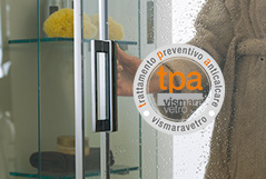 THE SOLUTION FOR LIMESTONE ON SHOWER ENCLOSURE