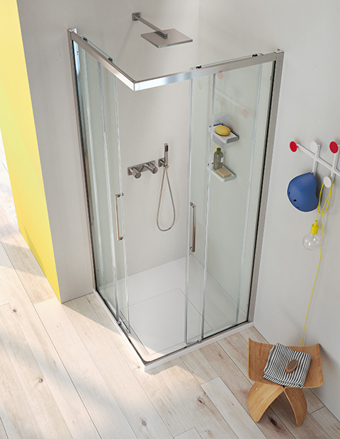 SERIES 7000: SLIDING SHOWER WITH MINIMAL PROFILES