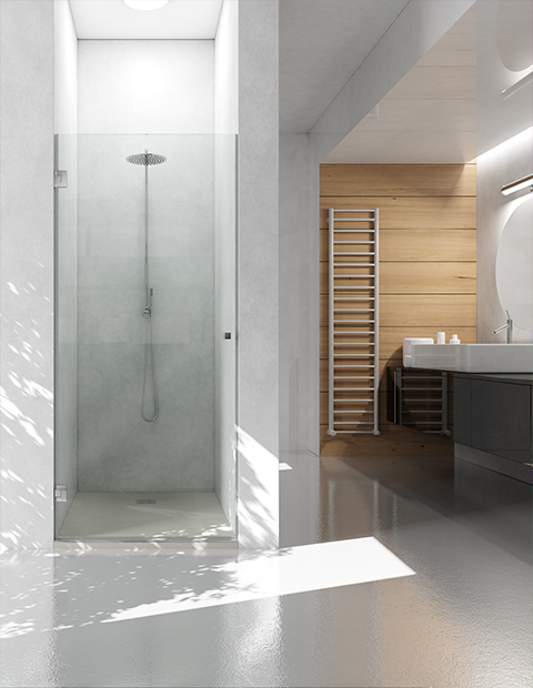 FOLIO: NEW SHOWER ENCLOSURE WITH PIVOT DOOR